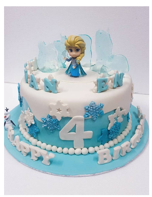 For Your Girls Birthday And She Will Be Delighted To Watch Her Favorite Princess Character Over Cake This Is The Best Surprise A Girl