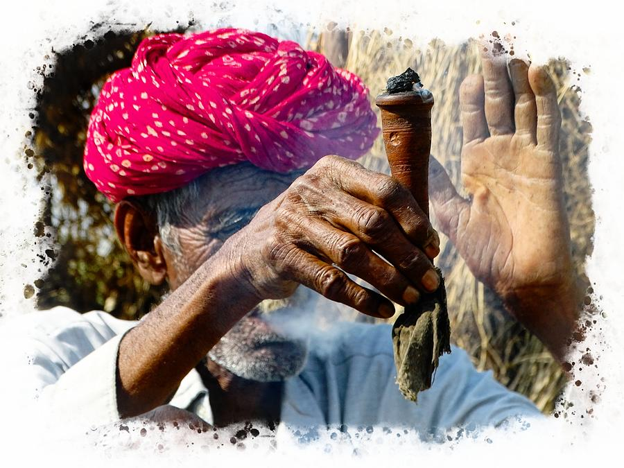 Pipe Smoking Deep Puff Chillum India Rajasthan 5 Photograph by ...